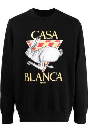 Casablanca Herren Sweatshirts - Logo-print crew-neck sweatshirt