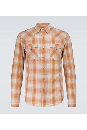 RRL Kariertes Hemd aus Baumwolle