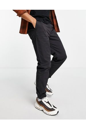 River Island Cuffed chinos in washed black