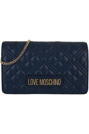 Love Moschino Damen Handtaschen - Satchel Bags Borsa Quilted Pu - in blue - Henkeltasche für Damen