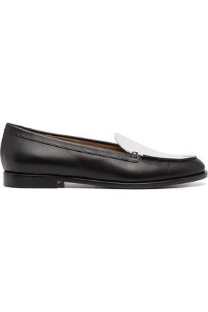 Emporio Armani Damen Halbschuhe - Contrast-panel leather loafers