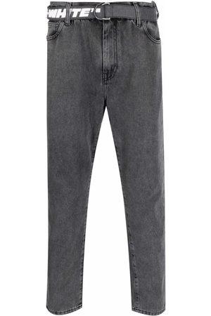OFF-WHITE Herren Straight - Belted straight-leg jeans