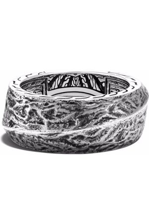 John Hardy Reticulated 10.5mm band ring