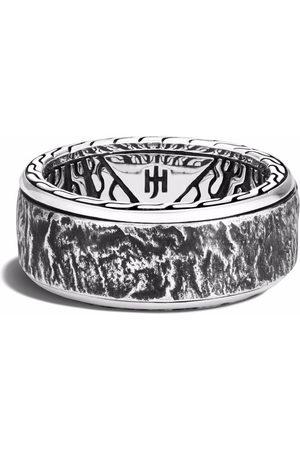 John Hardy Herren Ringe - Reticulated 10mm rotating band ring