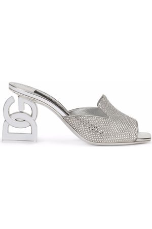 Dolce & Gabbana Logo-heel embellished mules
