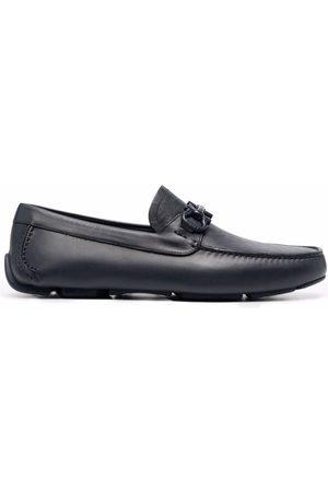 Salvatore Ferragamo Embossed-logo leather loafers