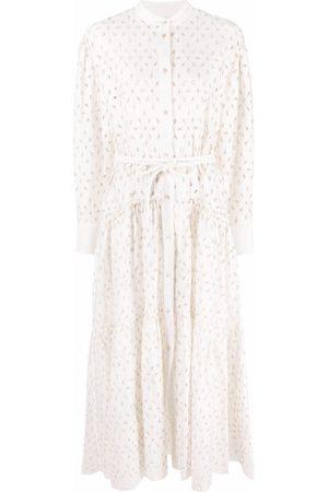 FORTE FORTE Broderie-anglaise maxi shirt dress