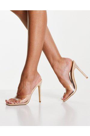 Ego Gwyneth heeled mules in clear-Neutral