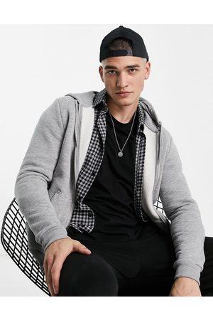 ASOS Zip up hoodie in grey marl
