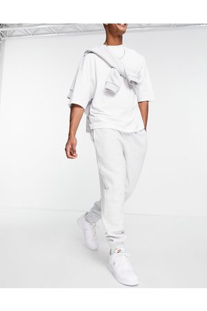 ASOS Oversized joggers in white marl
