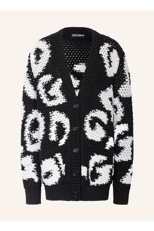 Dolce & Gabbana Damen Strickpullover - Oversized-Strickjacke Mit Cashmere weiss