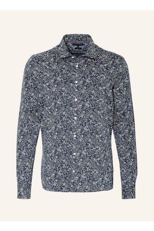 Tommy Hilfiger Herren Freizeit - Hemd Slim Fit blau