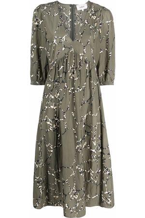 Bash Damen Freizeitkleider - Abstract-print V-neck dress