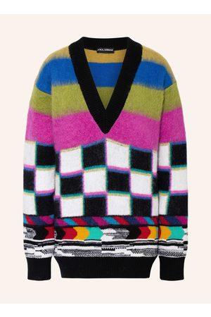 Dolce & Gabbana Damen Strickpullover - Oversized-Pullover Mit Cashmere