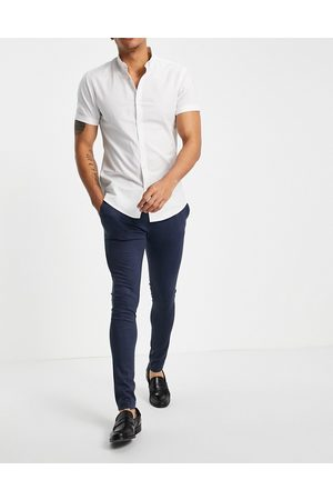 ASOS Extreme super skinny smart trouser in navy jersey
