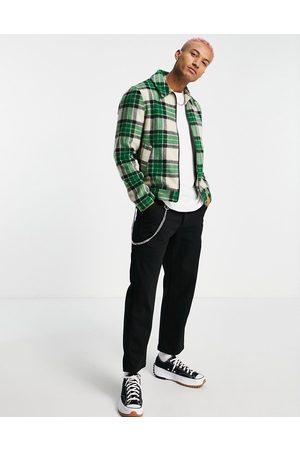 ASOS Herren Jacken - Harrington jacket in green check