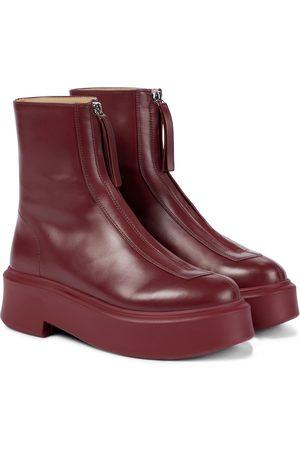 The Row Exklusiv bei Mytheresa – Ankle Boots Zipped 1 aus Leder