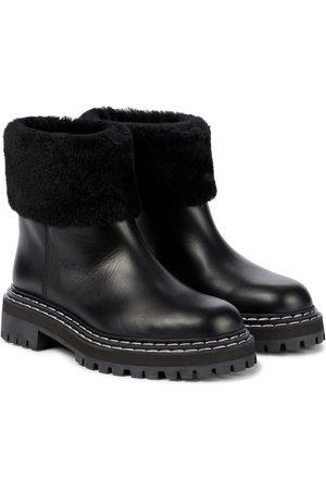 Proenza Schouler Ankle Boots aus Leder und Shearling