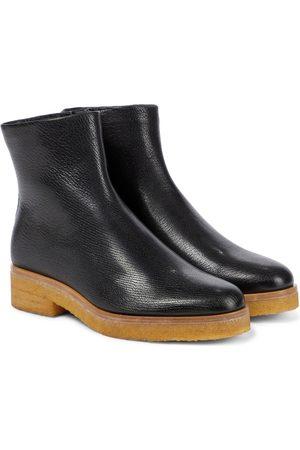 The Row Ankle Boots Boris aus Leder