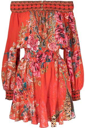 Camilla Damen Freizeitkleider - Floral print off shoulder dress