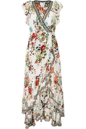 Camilla Damen Freizeitkleider - Shakespeares Garden-print wrap dress