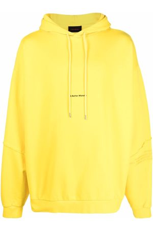 A BETTER MISTAKE Logo-print pullover hoodie