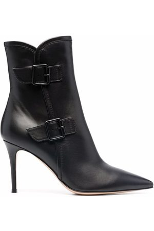 Gianvito Rossi Damen Pumps - Side-buckle pointed boots