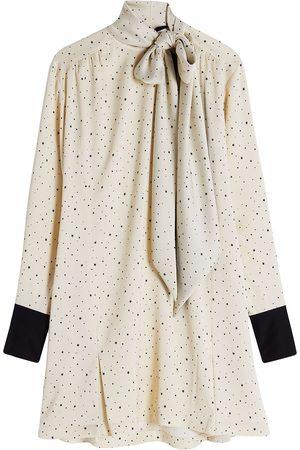 Victoria Victoria Beckham Damen Freizeitkleider - Star-print pussybow mini dress