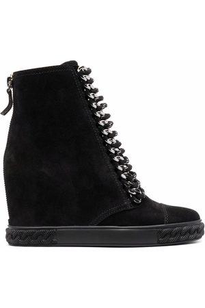 Casadei Suede wedge sneaker boots