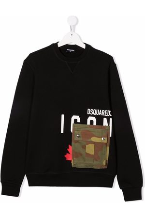 Dsquared2 Teen camo pocket sweatshirt