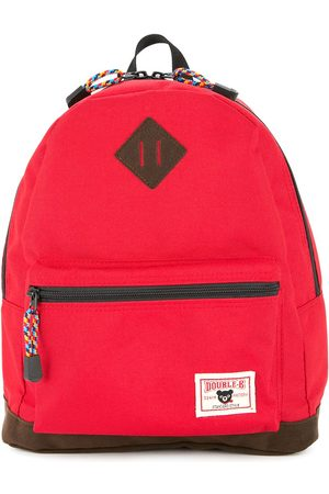 Miki House Small logo-patch backpack