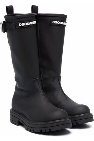 Dsquared2 Ridged leather boots