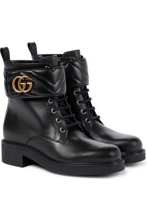 Gucci Ankle Boots GG Marmont aus Leder