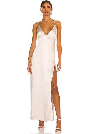 MORE TO COME Regina Maxi Dress in - Neutral. Size L (also in M, S, XL, XS, XXS).
