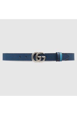 Gucci Herren Gürtel - Schmaler, wendbarer GG Marmont Gürtel