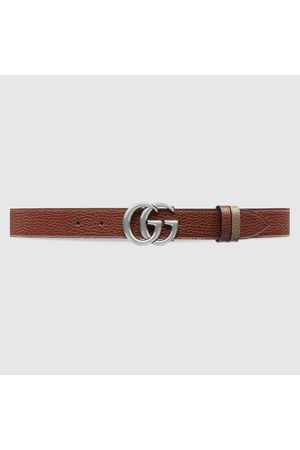Gucci Schmaler, wendbarer GG Marmont Gürtel