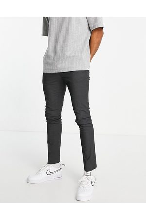 Topman Herren Chinos - Recycled fabric skinny trousers in charcoal-Grey