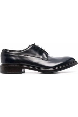 Premiata Lace-up patent leather derby shoes