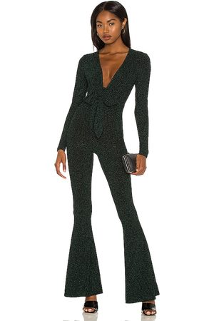 Show Me Your Mumu X REVOLVE Martina Jumpsuit in - Dark Green. Size L (also in M, S, XS).