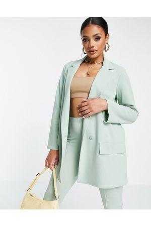 ASOS Jersey supersized boyfriend suit blazer in sage-Green