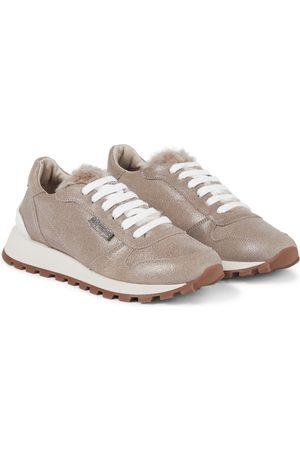 Brunello Cucinelli Verzierte Sneakers aus Leder