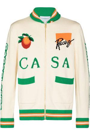 Casablanca Racing zip-up cardigan