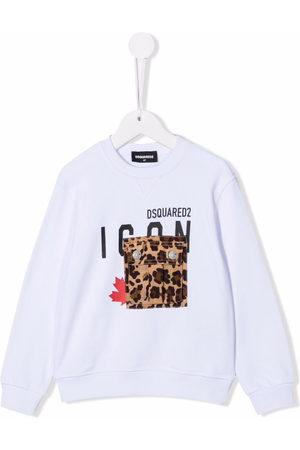 Dsquared2 Mädchen Shirts - Icon-print cotton sweatshirt