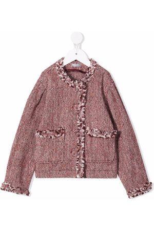 Il gufo Mädchen Blazer & Sakkos - Tweed frayed jacket