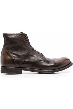 Officine creative Journal lace-up leather boots