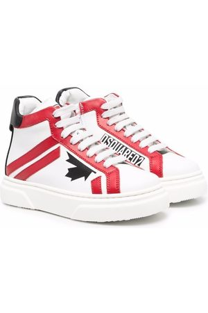 Dsquared2 Jungen Sneakers - D2 leather high-top sneakers