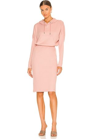 BCBGeneration Hooded Midi Dress in - Pink. Size S (also in XS, M, L, XL).