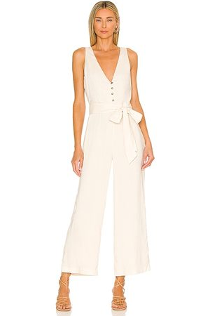 MAJORELLE Melodie Jumpsuit in - Ivory. Size L (also in XXS, XS, S, M, XL).