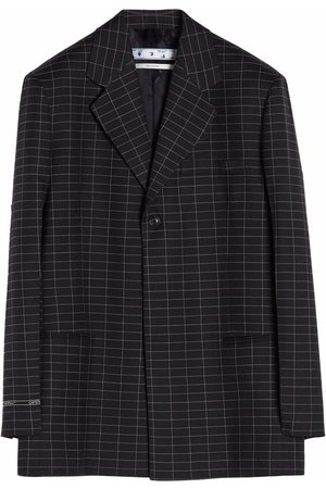 OFF-WHITE Check-pattern single-breasted blazer