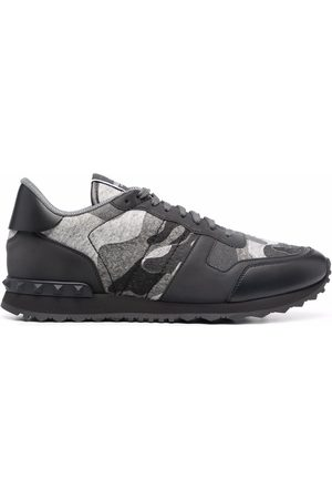 VALENTINO GARAVANI Rockrunner Camouflage lace-up sneakers